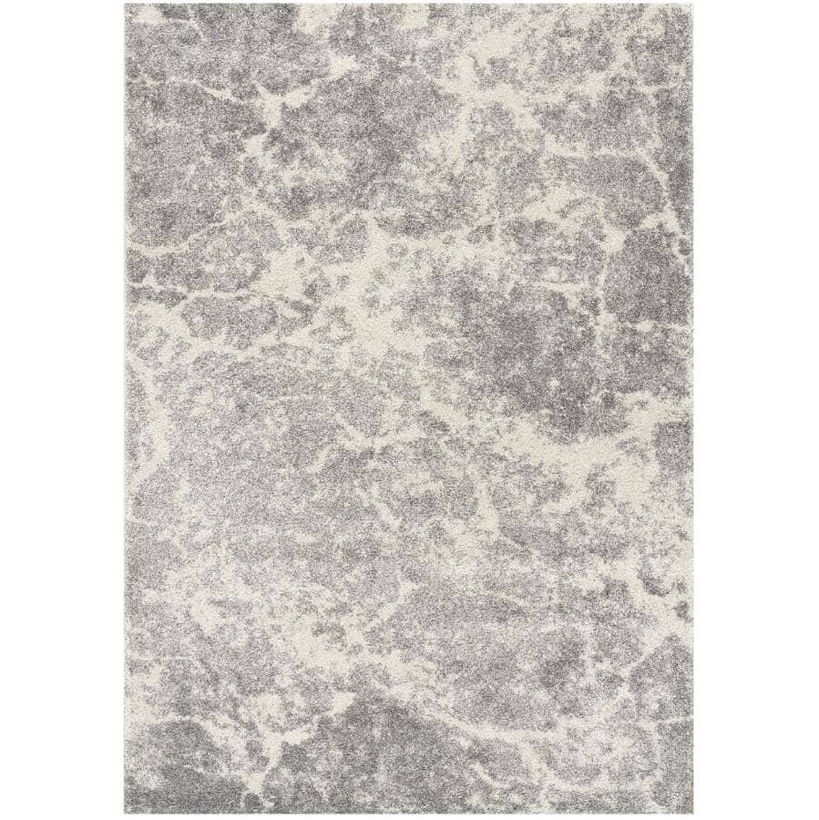 KALORA INTERIORS:6' x 8' Breeze Cream and Grey Serene Texture Area Rug