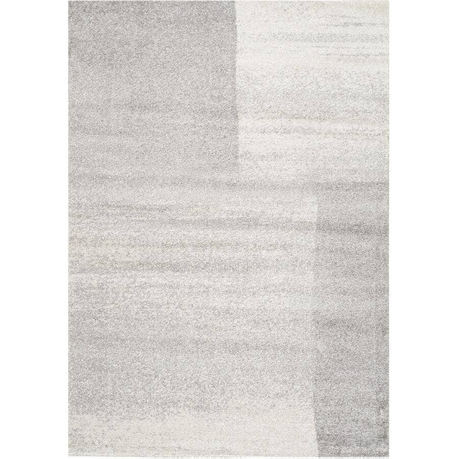 KALORA INTERIORS:8' x 11' Focus Grey Soft Transition Rectangle Area Rug