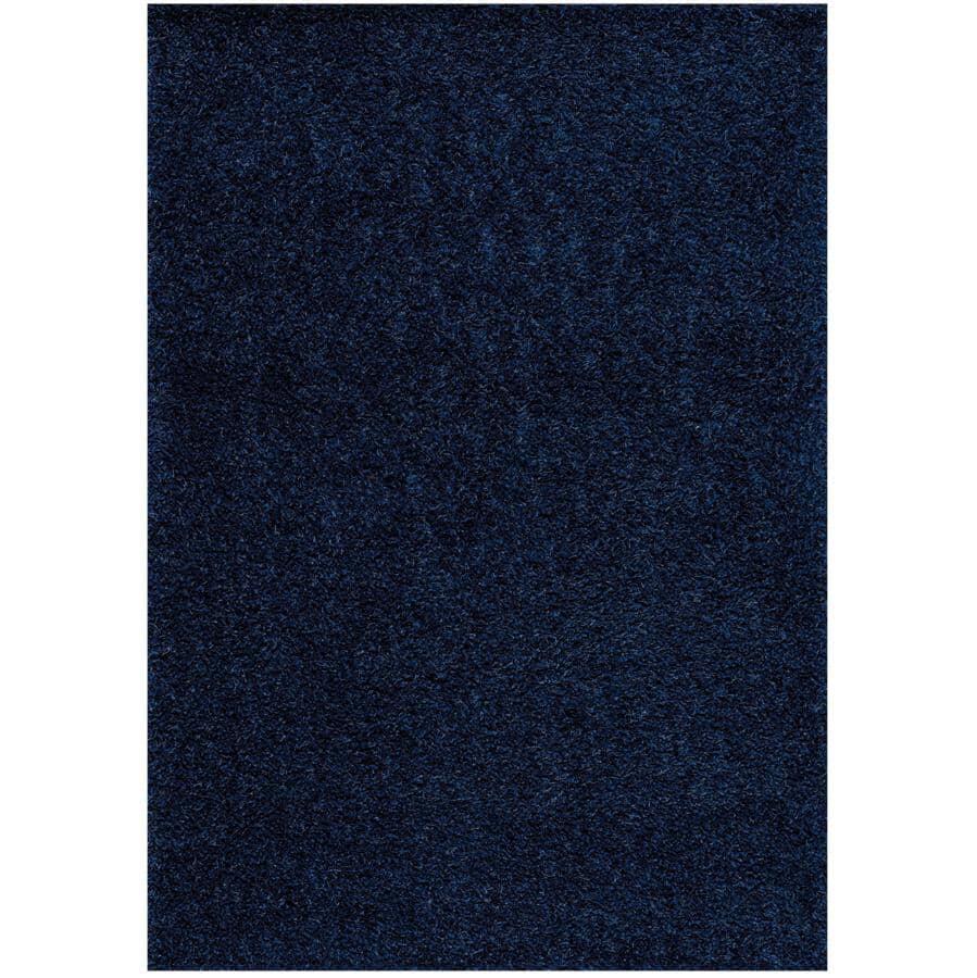 KALORA INTERIORS:6' x 8' Plateau Blue Soft Shag Area Rug