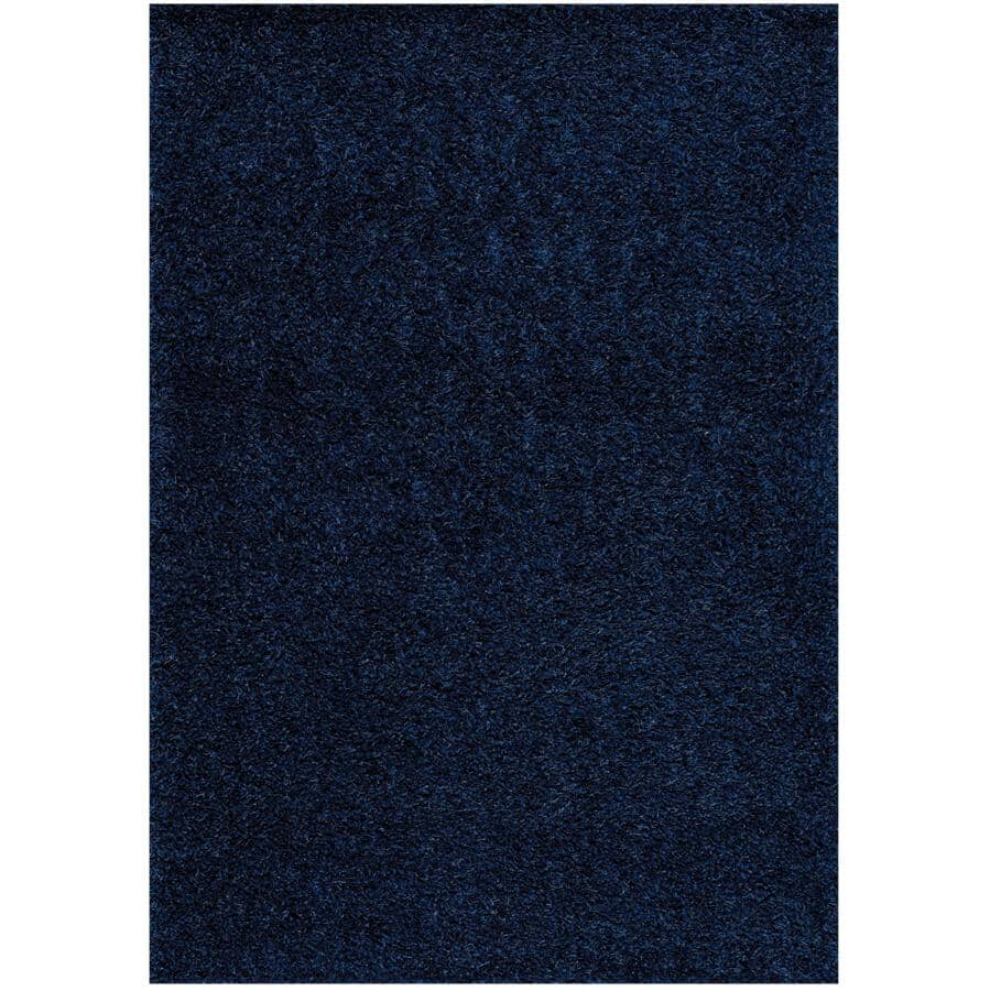 KALORA INTERIORS:8' x 11' Plateau Blue Soft Shag Area Rug