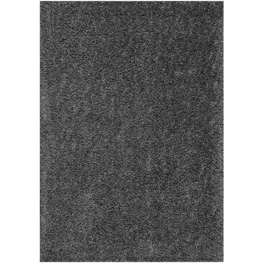 KALORA INTERIORS:6' x 8' Plateau Dark Grey Soft Shag Area Rug