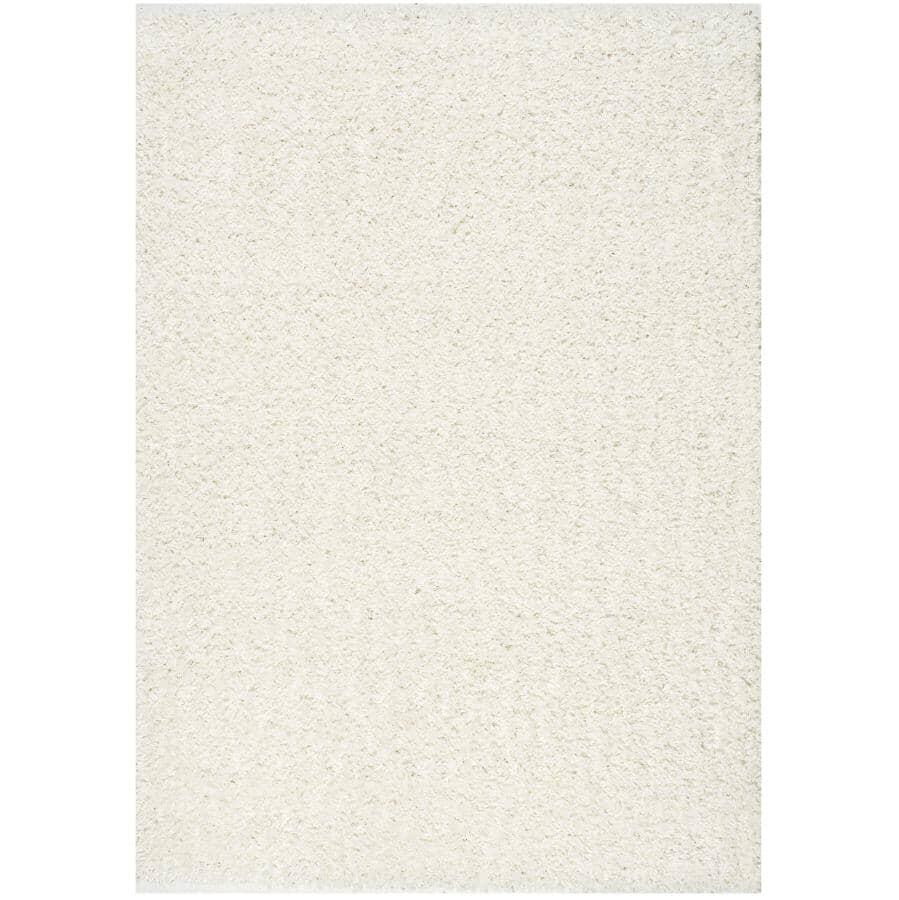 KALORA INTERIORS:6' x 8' Plateau Bright Cream Soft Shag Area Rug