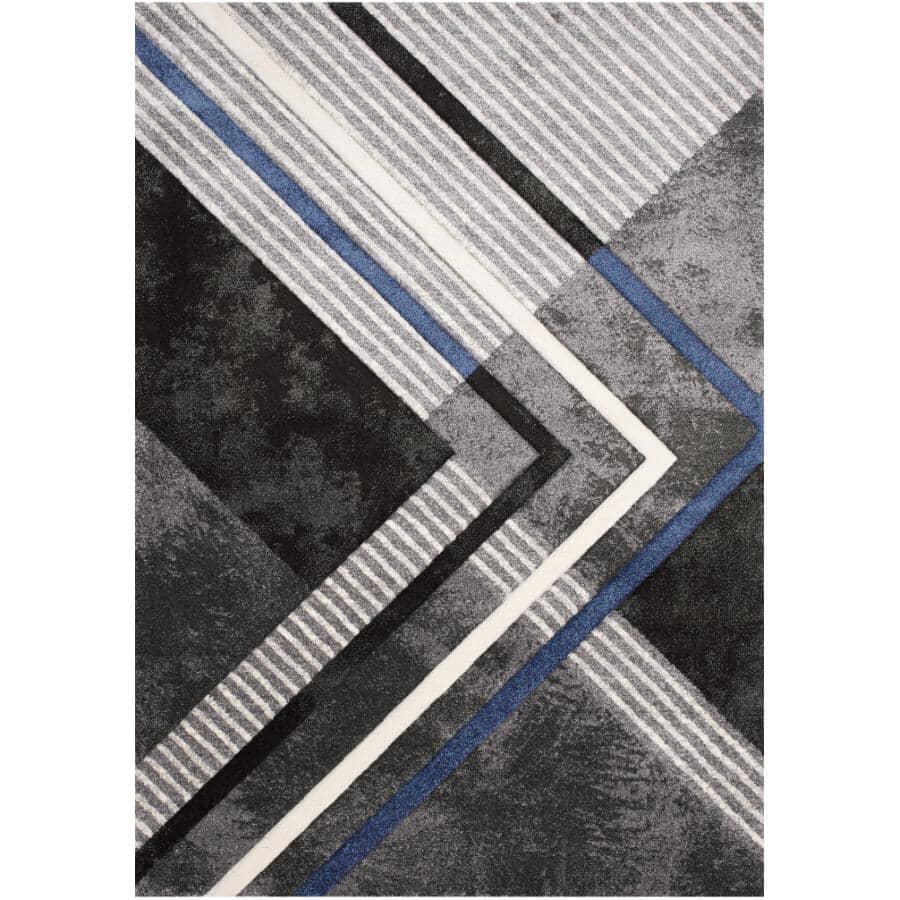 KALORA INTERIORS:8' x 11' Soho Area Rug - Grey, Black & Blue Design