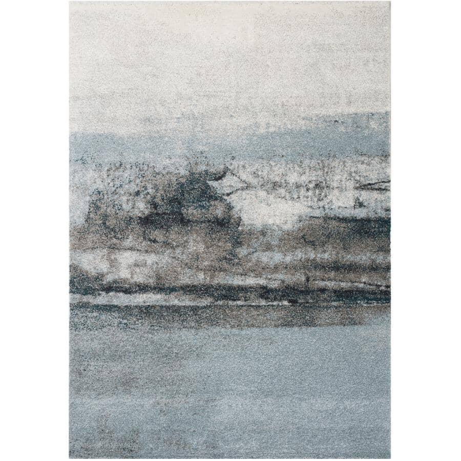 KALORA INTERIORS:6' x 8' Sable Area Rug - Blue, Cream & Grey Design