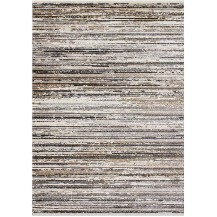 KALORA INTERIORS:6' x 8' Calabar Area Rug - Grey, Beige & White Design