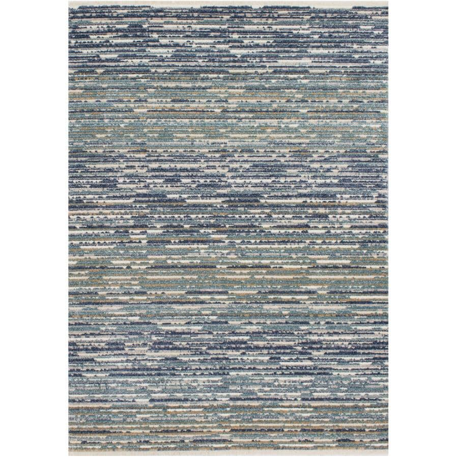 KALORA INTERIORS:8' x 10' Calabar Area Rug - Blue, White & Beige Design