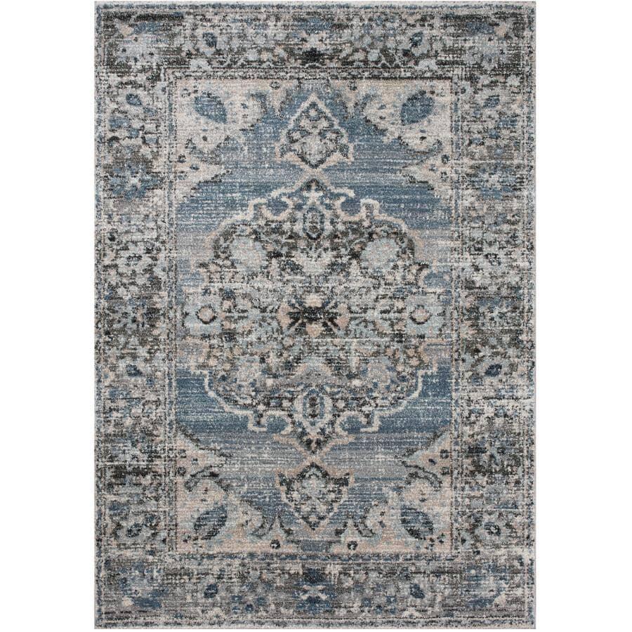 KALORA INTERIORS:6' x 8' Breeze Area Rug - Blue, Grey & Brown Design