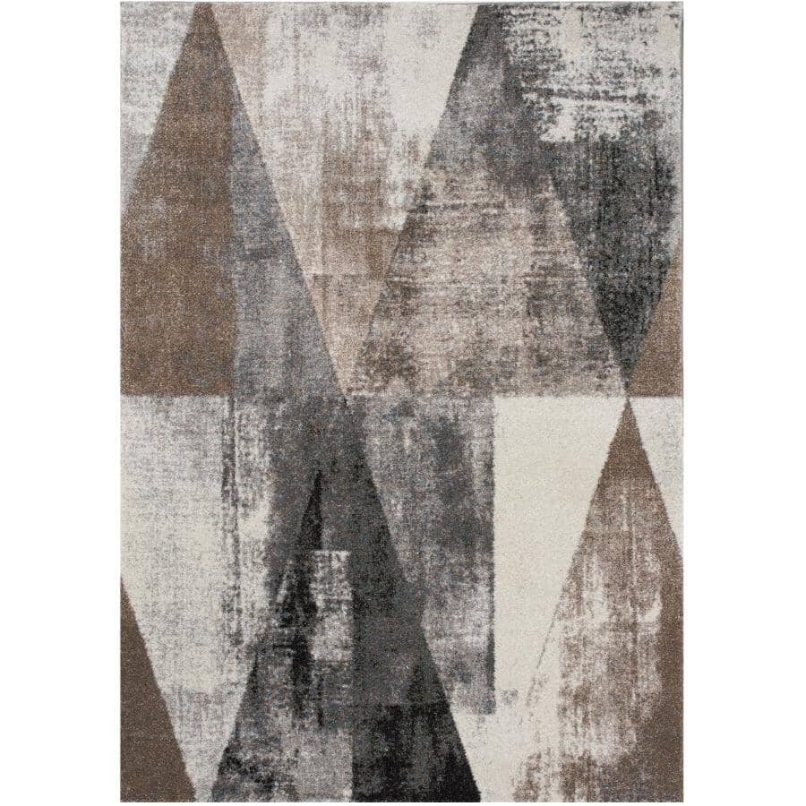 KALORA INTERIORS:8' x 11' Breeze Area Rug - Cream, Brown & Grey Design