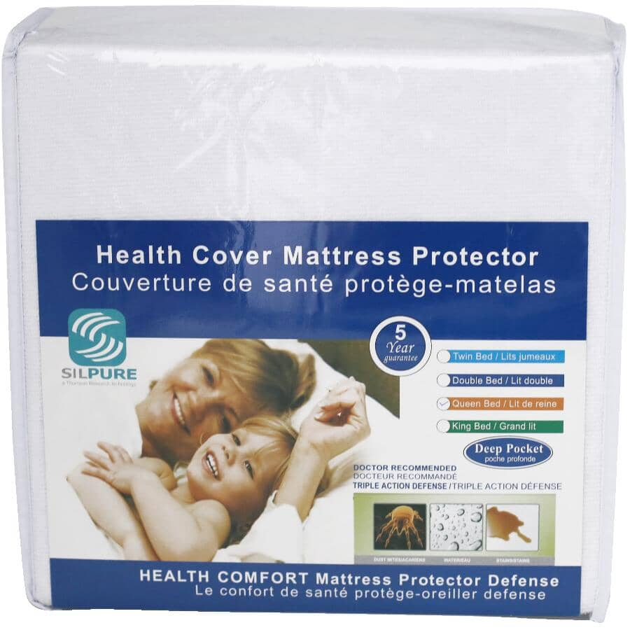 COTTON HOUSE:Health Comfort Waterproof Terry Cloth Mattress Protector - Double