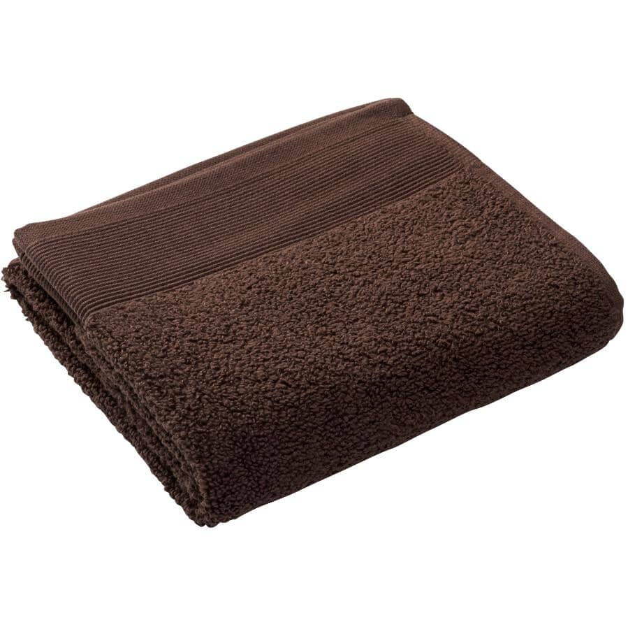 """FAB STYLES:Camelot Cotton Face Cloth - Chocolate Brown, 13"""" x 13"""""""