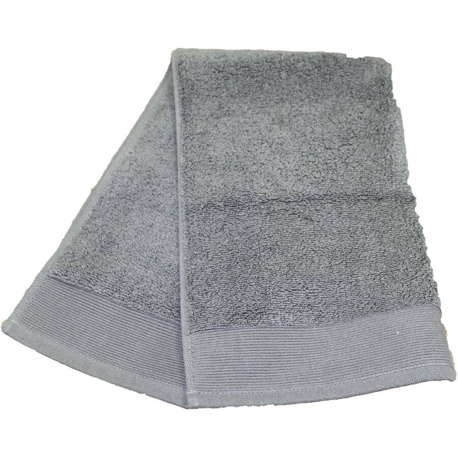 """FAB STYLES:Camelot Cotton Hand Towel - Grey, 16"""" x 28"""""""