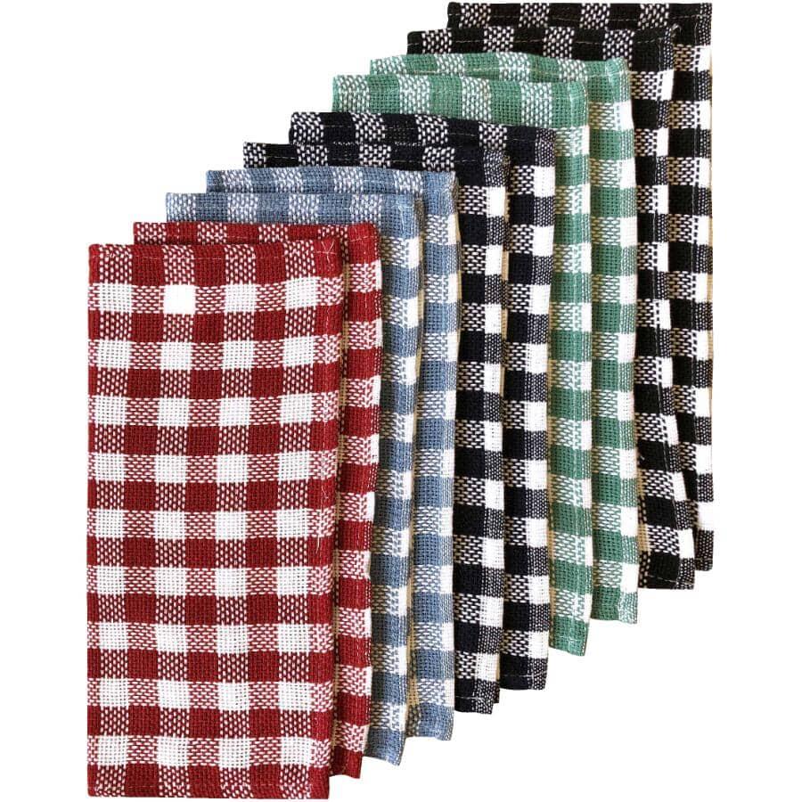 BASIX:Dish Cloths - Assorted Colours, 10 Pack