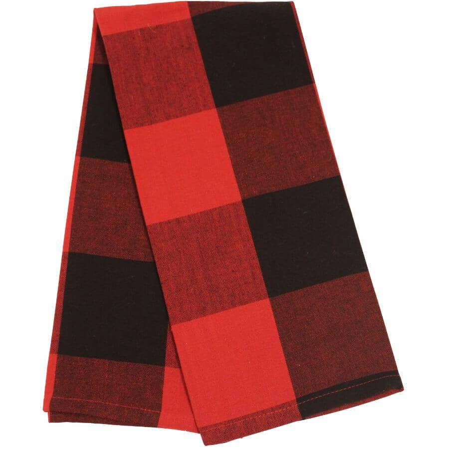 FAB STYLES:Cotton Tea Towels - Buffalo Check, 2 Pack