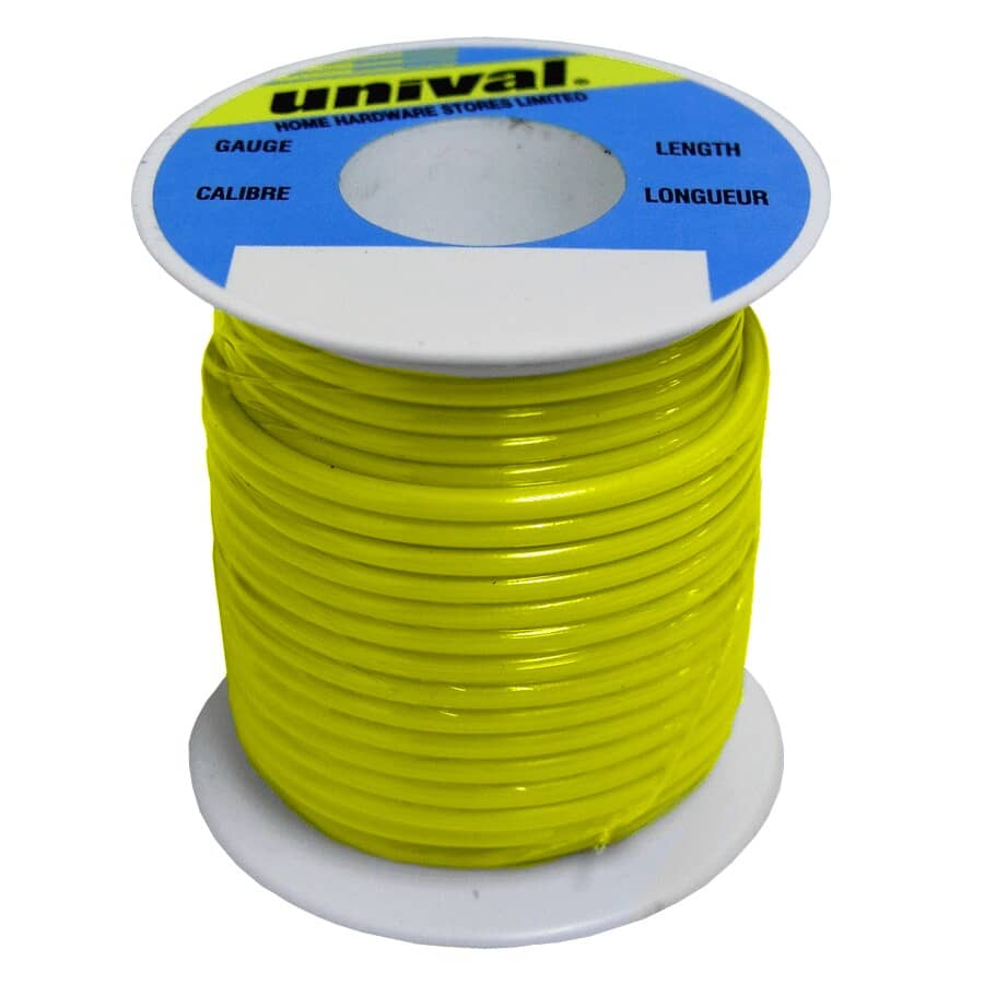 UNIVAL:35' Yellow 18ga Primary Wire