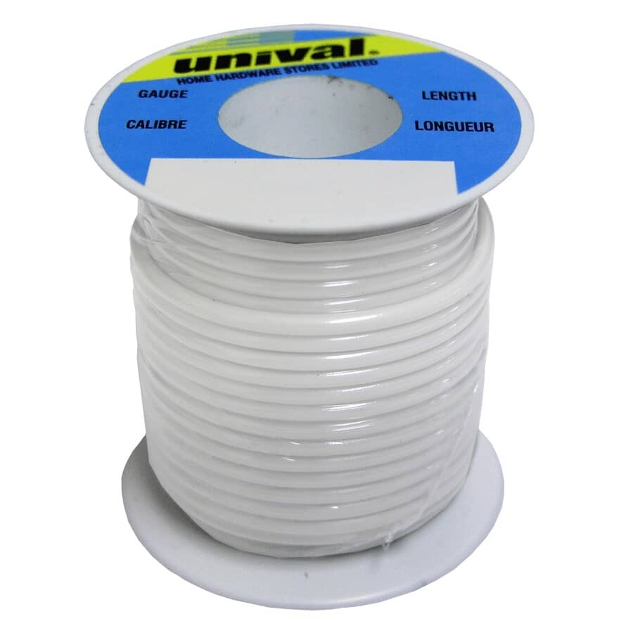 UNIVAL:35' White 18ga Primary Wire