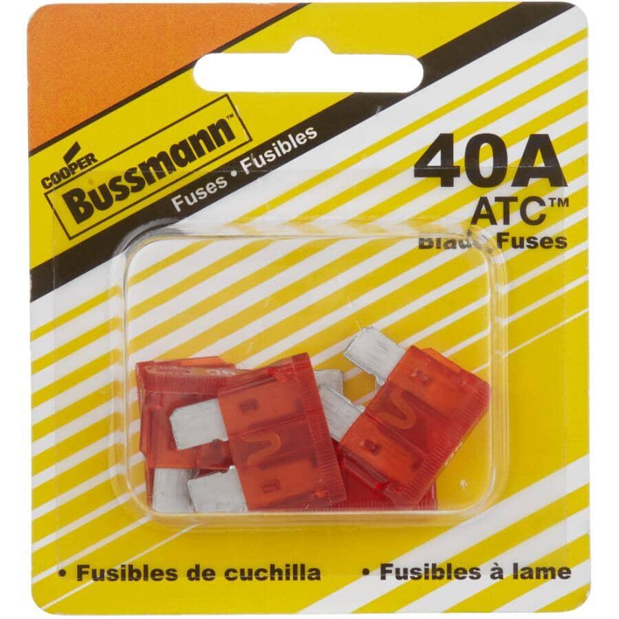 BUSSMANN:ATC 40 Amp Blade Fuses - 5 Pack