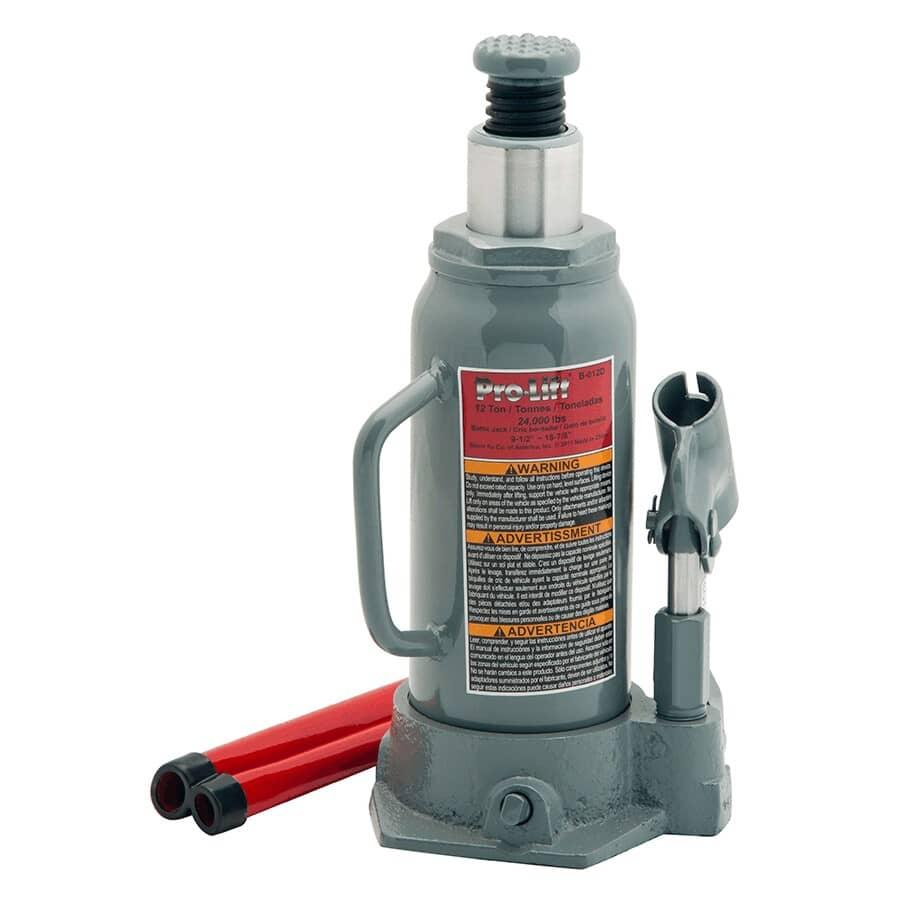 PRO-LIFT:12 Ton Hydraulic Bottle Jack