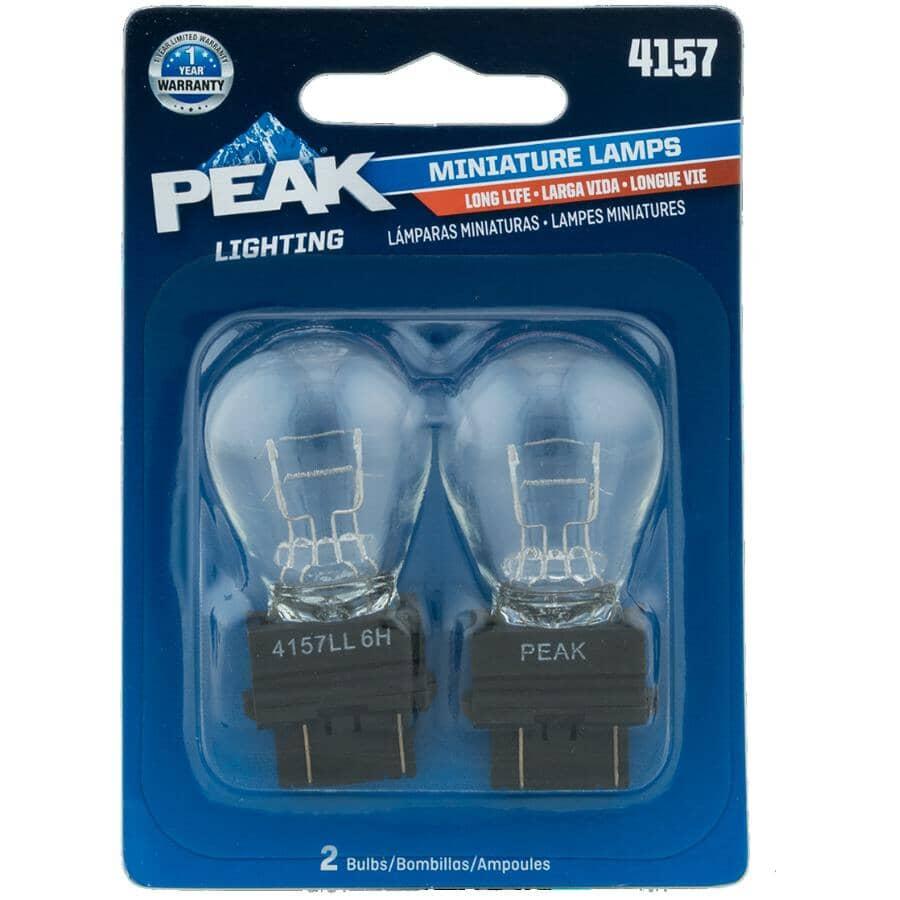 PEAK:12.8/14V Long Life Polymer Wedge Based Mini Bulbs - 2 Pack