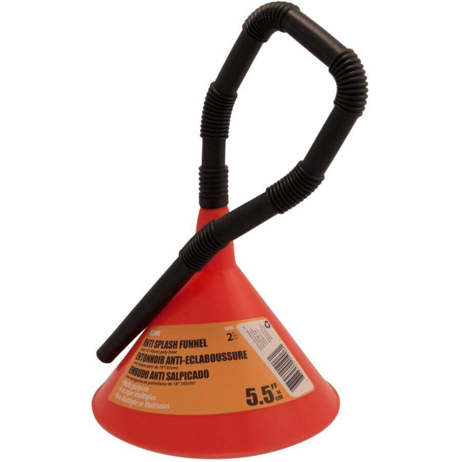 """ILINK:Plastic Funnel - with Flexible Spout, 5-1/2"""""""