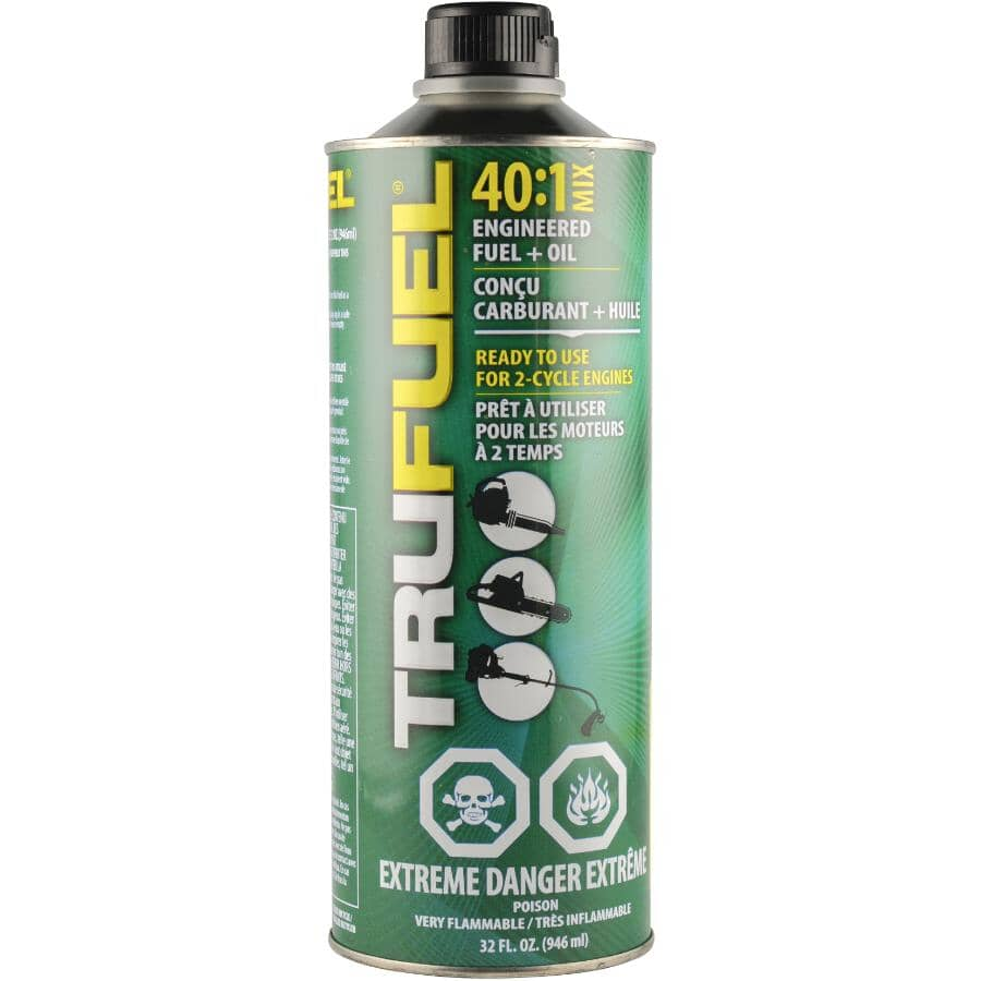 TRUFUEL:Pre-Mixed 2 Cycle Engineered Fuel & Oil - 40:1, 946 ml