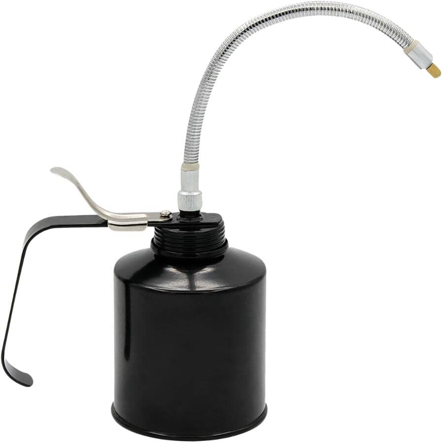 """PLEWS LUBRIMATIC:Handled Oiler - with 9"""" Spout - 16 oz"""