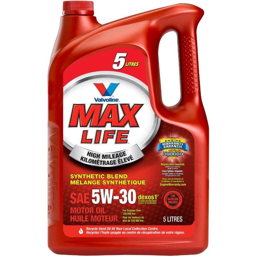 VALVOLINE:5W30 MaxLife High Mileage Synthetic Blend Motor Oil - 5 L