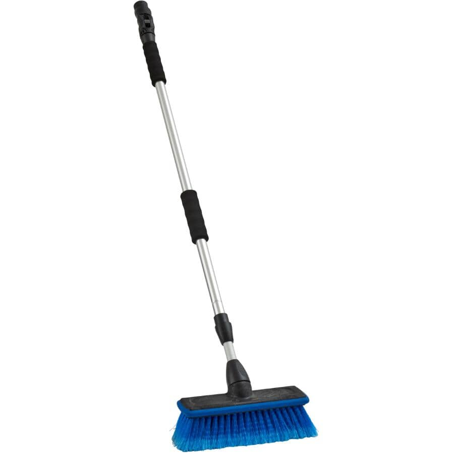 "CARRAND:10"" Flo-Thru Wash Brush - with 68"" Telescopic Handle"