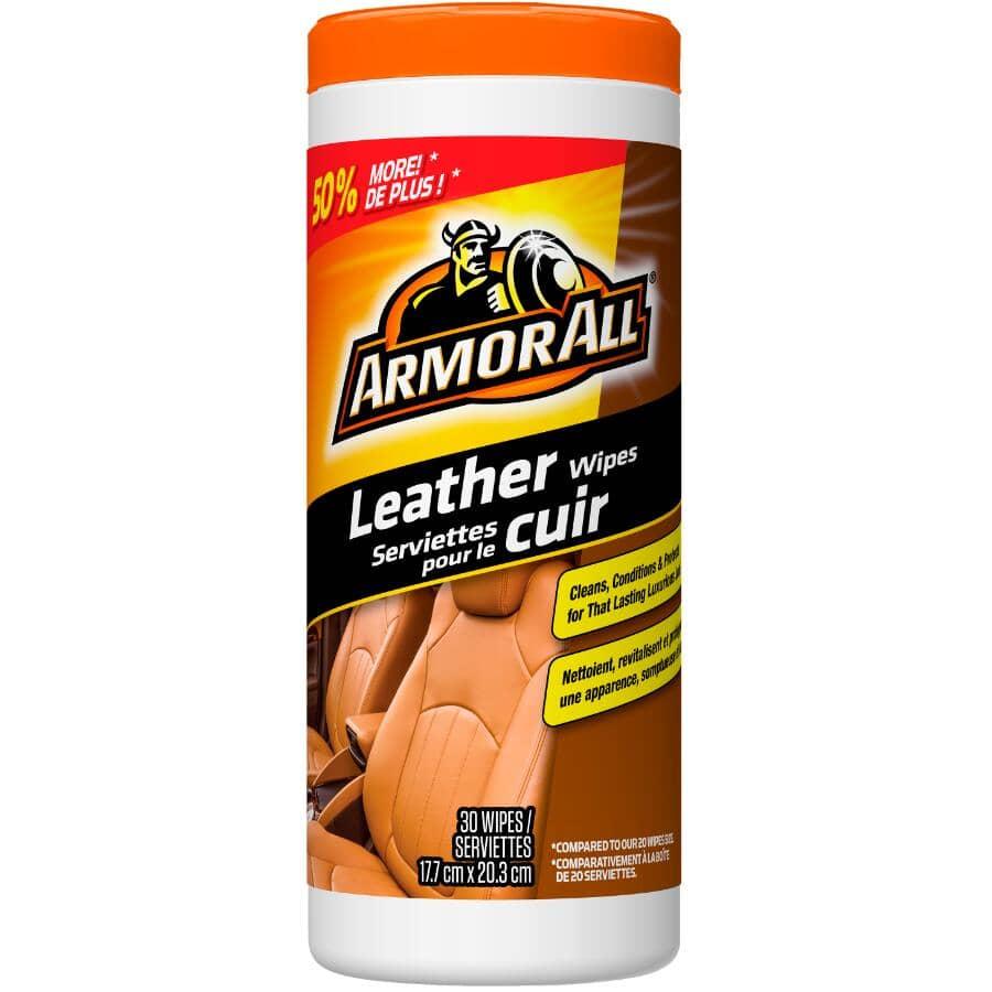 ARMOR ALL:Paquet de 30 serviettes humides pour cuir