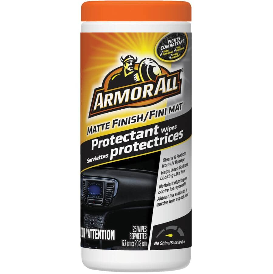 ARMOR ALL:25 Pack Matte Finish Protectant Car Wipes