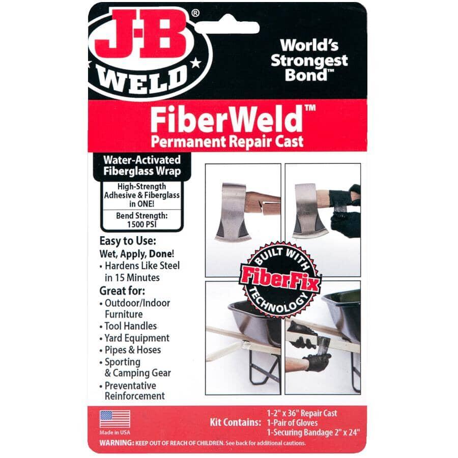 """J-B WELD:FiberWeld Permanent Repair Cast Kit - 2"""" x 36"""" Roll"""