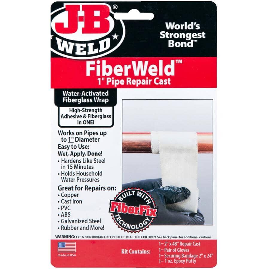 """J-B WELD:FiberWeld Permanent Pipe Repair Cast Kit - 2"""" x 36"""" Roll"""