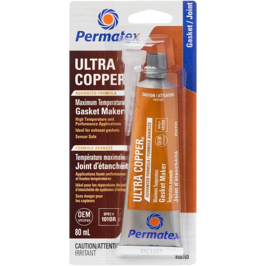 PERMATEX:Ultra Copper High Temperature Gasket Maker - 80 mL