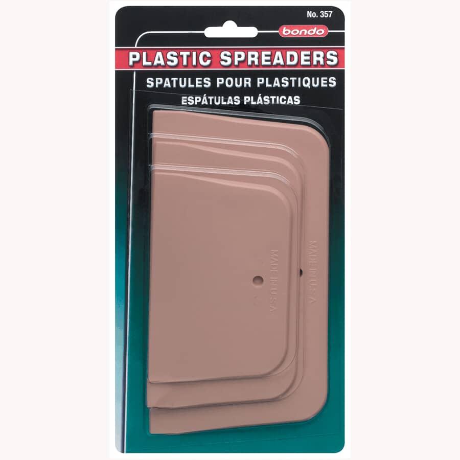 BONDO:Plastic Spreaders - 3 Pack