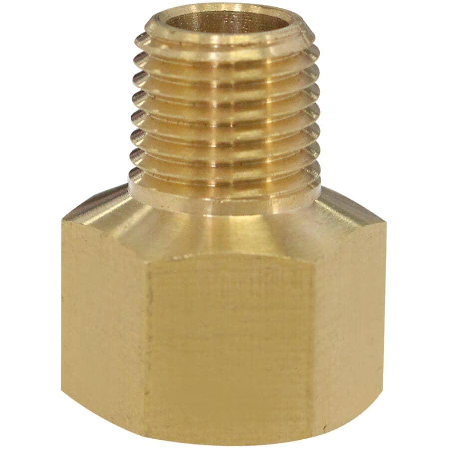 "DOMINION:3/8"" Female Pipe Thread x 1/4"" Male Pipe Thread Brass Adapter"