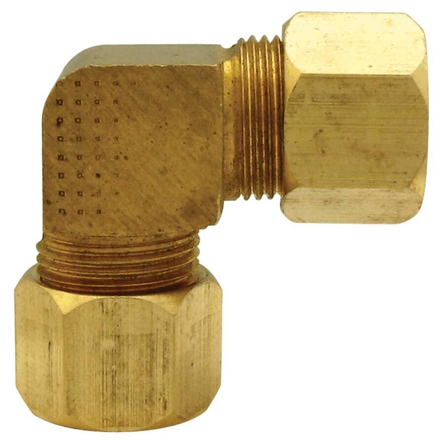 """DOMINION:1/2"""" Brass 90 Degree Compression Elbow"""