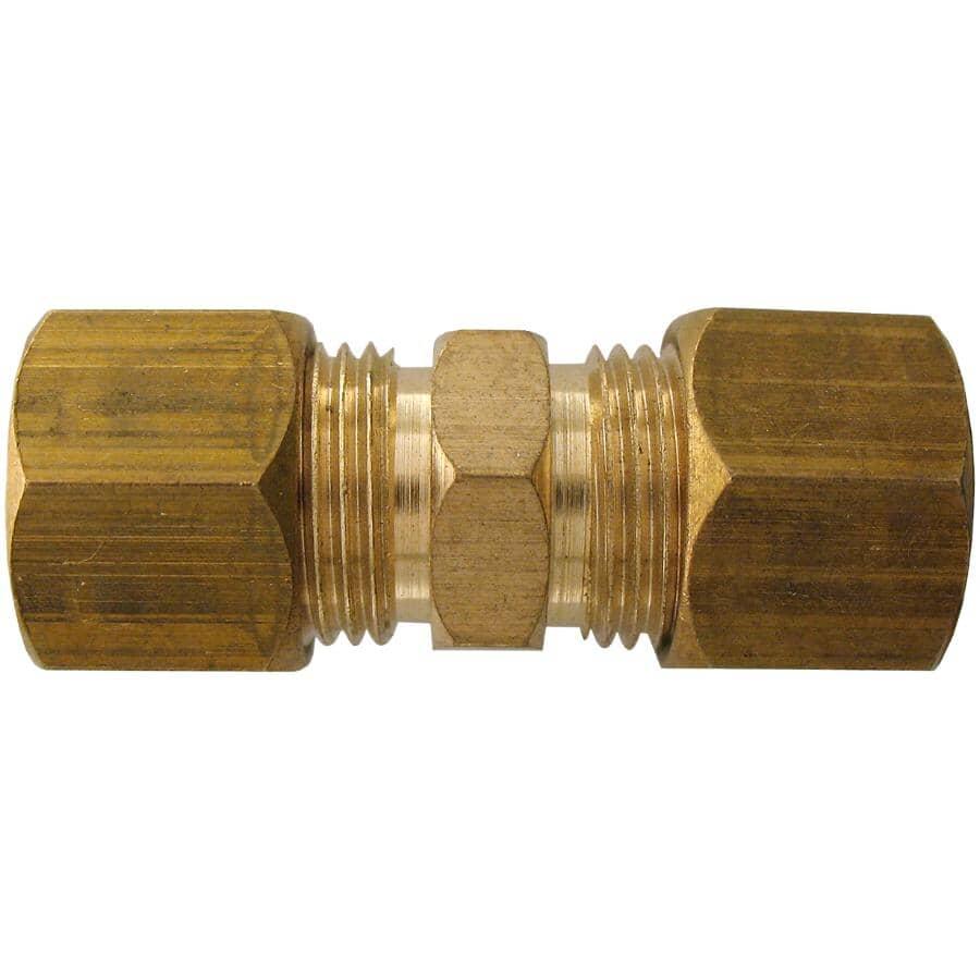 "DOMINION:3/8"" Double End Brass Compression Union"