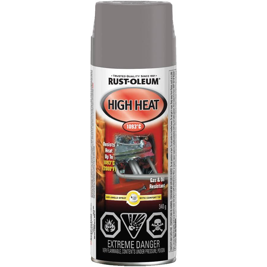 RUST-OLEUM:Flat Aluminum High Heat Spray Paint - 340 g