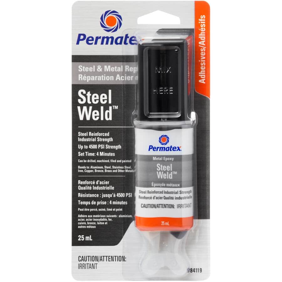 PERMATEX:Steel Weld 4 Minute Epoxy - 25 ml