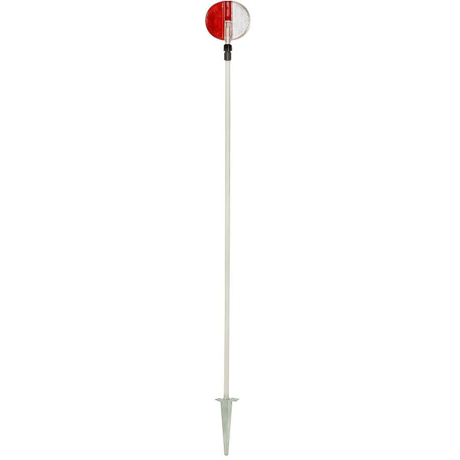 "NUVUE:Red & White Fiberglass Driveway Marker - 72"""