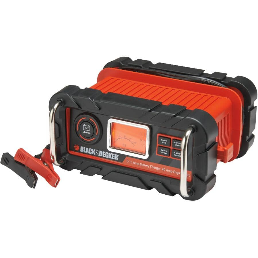 BLACK & DECKER:15 Amp 12V Fully Automatic Battery Charger & Maintainer