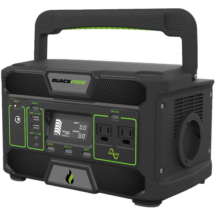BLACKFIRE:Rechargeable Portable Power Station - 546W