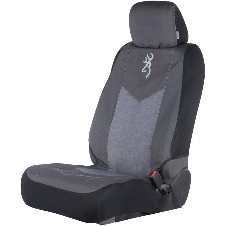 BROWNING:Low Back Seat Cover - Black Chevron