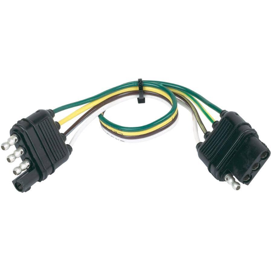HOPKINS TOWING SOLUTIONS:Connecteur à boucle à filage plat 4 voies pour extrémité de véhicule et de remorque, 12 po