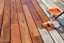 Picture of pressure-treated decking