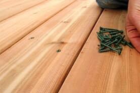 Picture of cedar decking